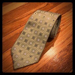 "Club Room ""Squares Within Squares"" Tie"